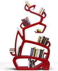 furniture creative bookshelf design with round shape wooden wall