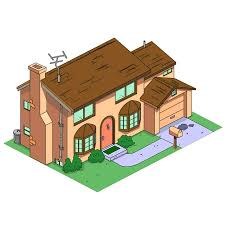 House 3d Model Free Download by Design Of The Week The Simpsons House