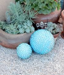 Gazing Ball Fountain Diy Faux Gazing Ball For The Garden