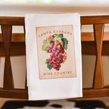 santa barbara wine country grapes towel the santa barbara company