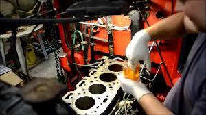 installation af foringer cylinder liner installation volvo
