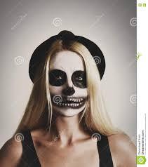 scary halloween skeleton on white background stock photo