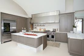 white cabinets with grey countertops wood floors warm cherry