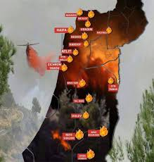 New Mexico Wildfire Map by Map Of Fires In Israel Israelpalestine Liveuamap Com