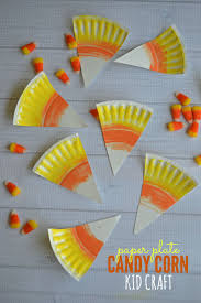 paper plate candy corn kid craft candy corn craft and garlands