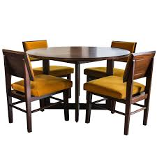 Commercial Dining Room Tables Frank Lloyd Wright For Henredon Dining Table With Chairs At 1stdibs
