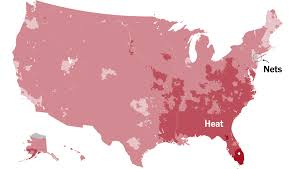 Seattle Demographics Map by Which Team Do You Cheer For An N B A Fan Map The New York Times