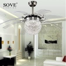 Dining Room Ceiling Fan by Online Get Cheap Crystal Ceiling Fan Aliexpress Com Alibaba Group