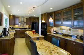 kitchen interesting rich brown galley kitchen design with
