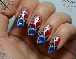 spiderman nail designs how you can do it at home pictures