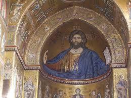 Mosaico bizantino di Gesù sulla cupola