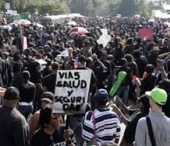 Chocó protesta por desisia Oficial