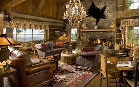 Country Living Room Curtains Living Room Natural Pleasant Stone Fireplace Nice American