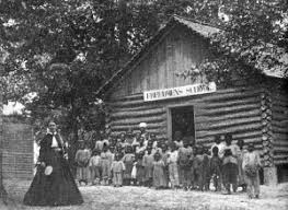 Freedmen     s Bureau Schools were started throughout the South after the Civil War