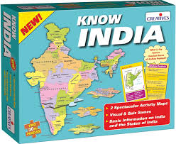 India Map Quiz by Buy Creative Educational Aids 0720 Know India Online At Low Prices