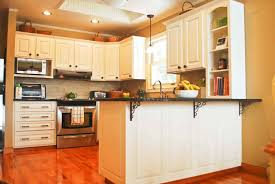 Oak Kitchen Cabinets Refinishing Wood Kitchen Cabinets Painted White Tehranway Decoration