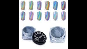elite99 holographic laser nail chrome powder shiny rainbow pigment