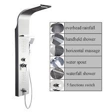 ello u0026allo stainless steel rainfall waterfall shower panel tower