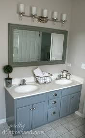 Black Distressed Bathroom Vanity by Pretty Distressed Bathroom Vanity Makeover With Latex Paint