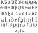 abecedario gotico