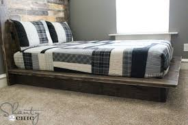 How To Build A Full Size Platform Bed With Drawers by Easy Diy Platform Bed Shanty 2 Chic