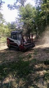 bandit u0027s model 60fm forestry mulcher attachment on a cat skid