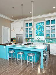 Blue Backsplash Kitchen Winning Coastal Kitchen Ideas Gray Stained Wall Globe Blue Glass