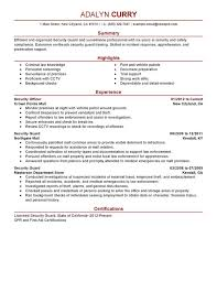 Resumes For Jobs Examples by Unforgettable Security Guard Resume Examples To Stand Out
