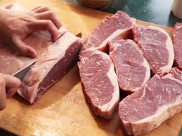 knife skills how to cut a whole beef strip loin into steaks