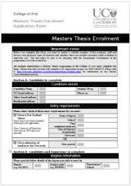 Enrolling to undertake a PhD thesis University of Canterbury