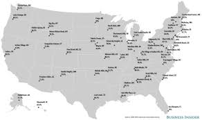 Map Of The Villages Florida by Most Educated Places Map Business Insider