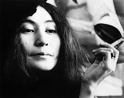 Yoko Ono posed with a