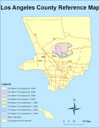 Los Angeles County Map by Geography 7 Introduction To Geographic Information Sytems