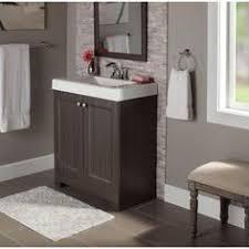 Glacier Bay Bathroom Vanity by Glacier Bay Shaila 30 5 In W Bath Vanity In Gray Oak With