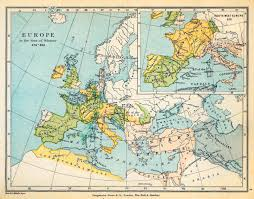 Map Of Western Europe by Map Of Europe 476 493