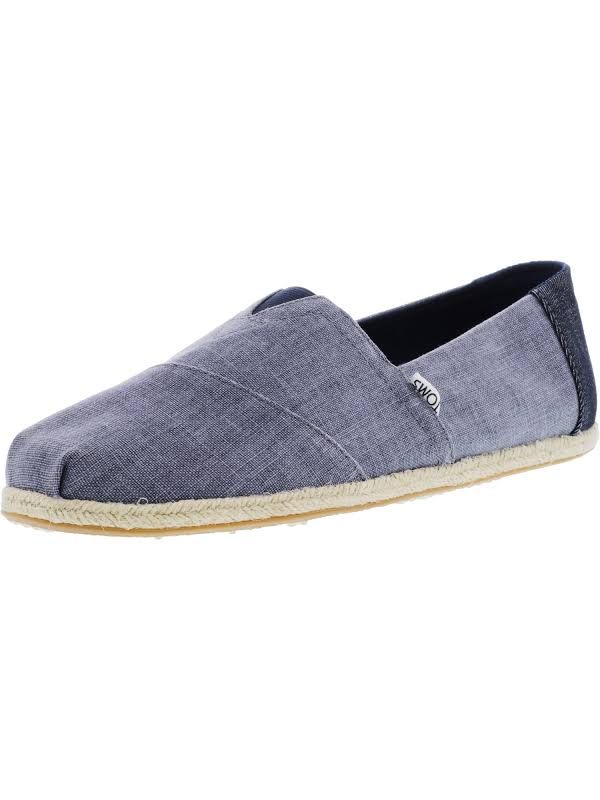 Toms Classic Coated Linen Rope Deep Ocean Ankle-High Canvas Slip-On Shoes