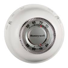 honeywell round heat cool thermostat ct87n the home depot