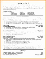 Sample Undergraduate Resume 5 Internship Cv Format Model Resumed