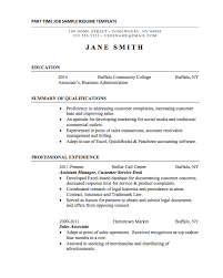 Resume For Call Center Jobs by 21 Basic Resumes Examples For Students Internships Com