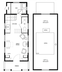 sample floor plans for the 828 coastal cottage tiny house simple