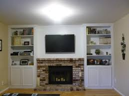 built in bookcases fireplace cheap building built in cabinets