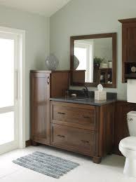 this decora treyburn cherry bathroom vanity balances both