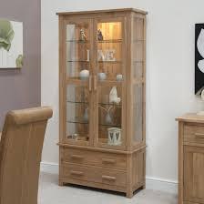 Oak Curio Cabinet Curio Cabinet Modern Glass Curio Cabinet At Costco Mirror