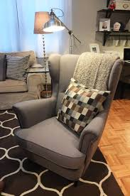 the ikea strandmon wing chair is a comfortable piece with a