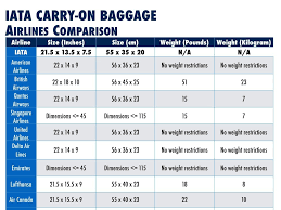 United Airline Baggage by Iata Introduces International Carry On Bag Guidelines