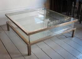 Display Coffee Table Coffee Tables Design Short Big Large Square Glass Coffee Table