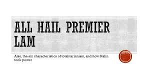 Also  the six characteristics of totalitarianism  and how Stalin took power  SlidePlayer