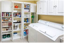 Kitchen Pantry Shelving Ideas by Laundry Room Beautiful Laundry Closet Cabinet Ideas Within The