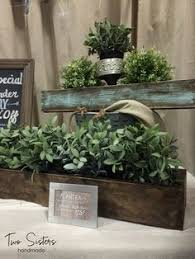 Shabby Chic Planters by Winter Wonderland Tablescape Planter Box By Twosistershandmadeco