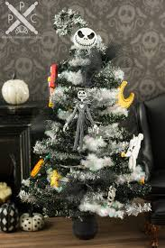 nightmare before christmas tinsel halloween tree with purple
